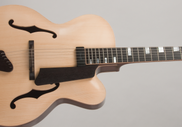 Handcarved Archtop Guitar Engelman Spruce-Mahogany